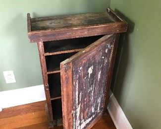 repurposed wood cabinet