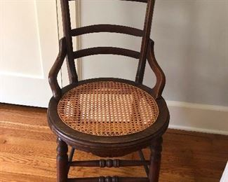 another caned chair