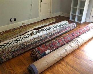 Lots of pretty area rugs!