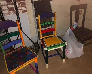 folk art chairs