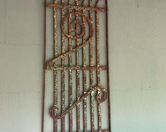 cool rusty metal wall hanging