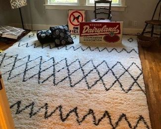 cool signs, mod area rug