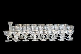 Glassware with Silver Trim
