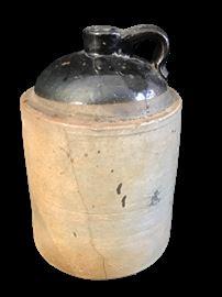 Stoneware Jug marked E C Brown