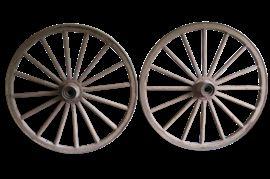 "Vintage 42"" Wagon Wheels"