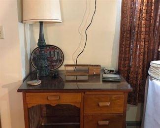 Desk, Lamp