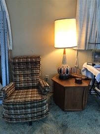 Vintage Chair, Lamp and End Table