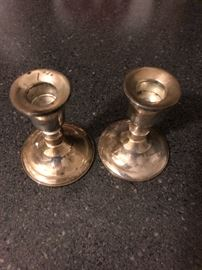 Sterling Weighted Candleholders