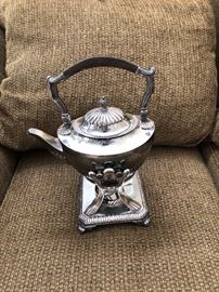 Tiffany Tea/ Coffee Decanter Warmer and Stand EP