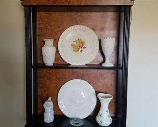 Belleek and cute cabinet