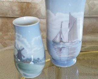 Beautiful Bing and Grondahl vases