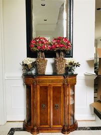 Beautiful entry table with marble top