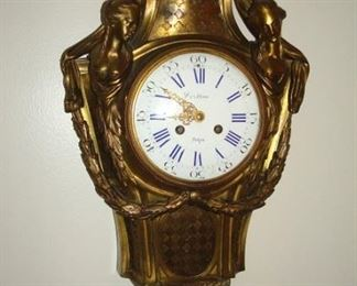 Bronze French Wall clock by Henry Vincent, 1855 Paris.