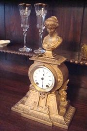 A Seth Thomas & Sons Co. New York. bronze figural shelf clock.
