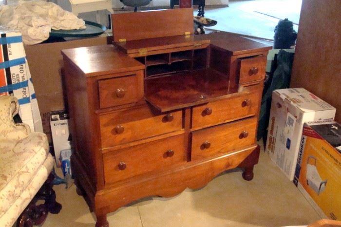 Empire period walnut butler's desk.