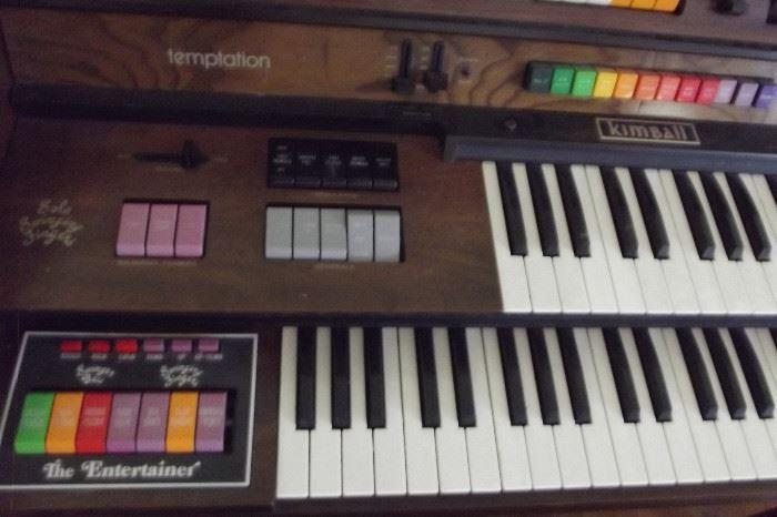 Kimball Organ (keyboard detail)