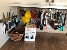 Loads of kitchen utencils