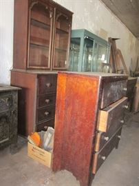 secretary & early chest of drawers