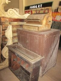 another cash register, small cabinet & corbels