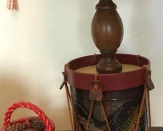AMERICANA DECOR DRUM LAMP