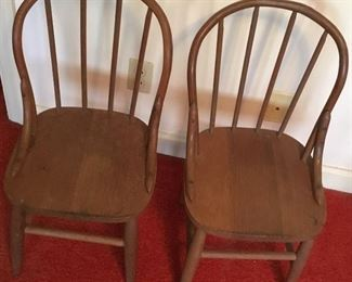 ANTIQUE CHILD'S WINDSOR CHAIRS