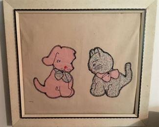 CHILD'S APPLIQUE ART