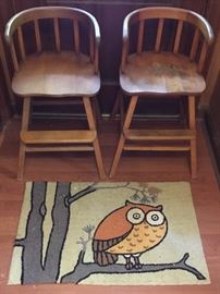VINTAGE HIGH CHAIRS