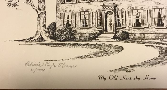 """""""MY OLD KENTUCKY HOME"""" PRINT SIGNED, NUMBERED"""