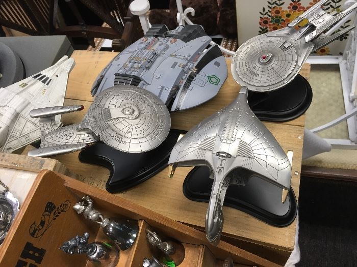 Star Trek collectible ships by Franklin Mint