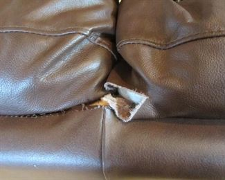 LARGE LEATHER SOFA HAS 2 TEARS, LOVESEAT IS PERFECT