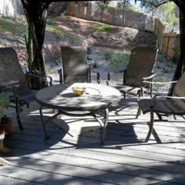 Patio set and fire pit
