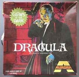 Vintage Aurora Glow in Dark Dracula Model