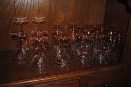 Depression Glass stem ware