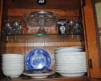 Square glass cake plate, Mikasa French Countryside plates and bowls and more
