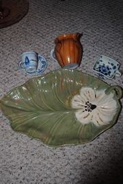 Signed Rudy Potesta Platter, Delft and other pieces