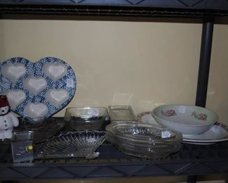 Assorted glass ware and china