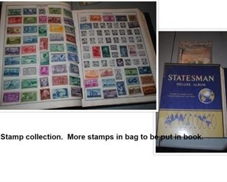 Stamp book with stamps not in book yet.  All 1970 and back.