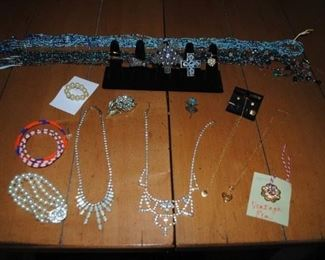 Small selection of costume jewelry that will be available!