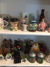 Vintage salt and pepper sets and other collectibles.