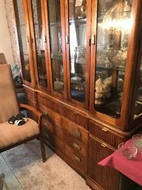 Stanley China Cabinet that comes in 2 pieces if you want to use the bottom for a media cabinet