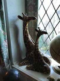 Ceramic giraffes