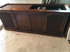 console media Cabinet, Record player, radio and reel to reel