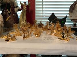 Danbury Mint Gold Ornaments