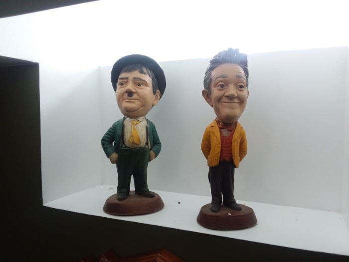 Antique Chalk Laurel and Hardy $150