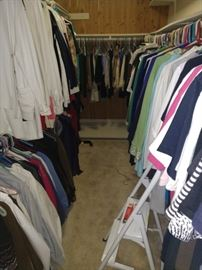 Nice sweaters, shirts, there are another 2 closets full!