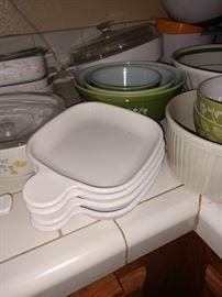 Sooo many bowls, Corning Ware, Pyrex, nice plastic sets!