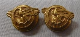 "Lot of 2 WWII United States Military Honorable Discharge ""Ruptured Duck"" Lapel Buttons"