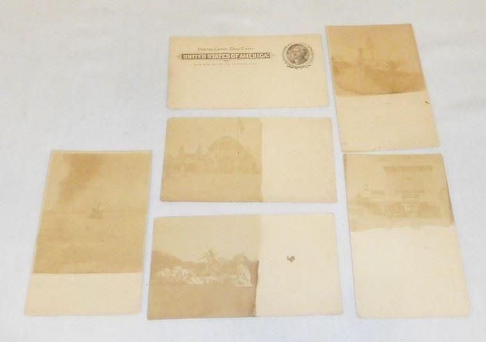 RARE Antique 1901 Lot of 6 Misc. Buffalo Pan Am Exposition Photo Private Mailing Postcards