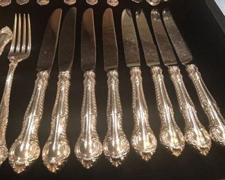 """GORHAM STERLING SILVER """"ENGLISH GADROON"""" SERVICE FOR 8 (32 pcs)"""