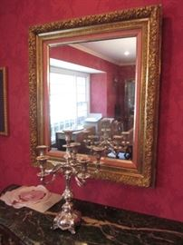 Many Shapes & Sizes of Gold Gilded Mirrors
